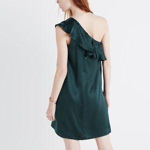 Madewell Silk Dancefloor One-Shoulder Dress